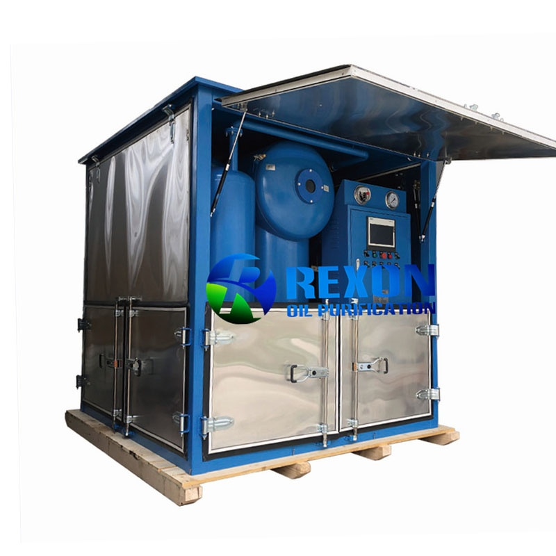 High Vacuum Type Transformer Oil Purification System with Full Enclosure