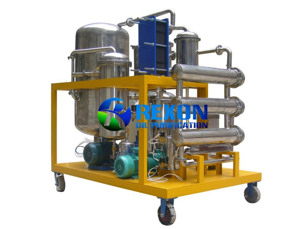 Edible Type Cooking Oil Filtering Equipment and 304 Stainless Steel Oil Purification System SYA-200