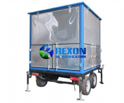 Double Axle Trailer Mounted Mobile and Enclosed  Type Transformer Oil Purifier